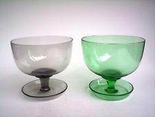 2x Glas Süssmuth Kristall Eisschale Dessertschale Sektschale 50s glass vintage