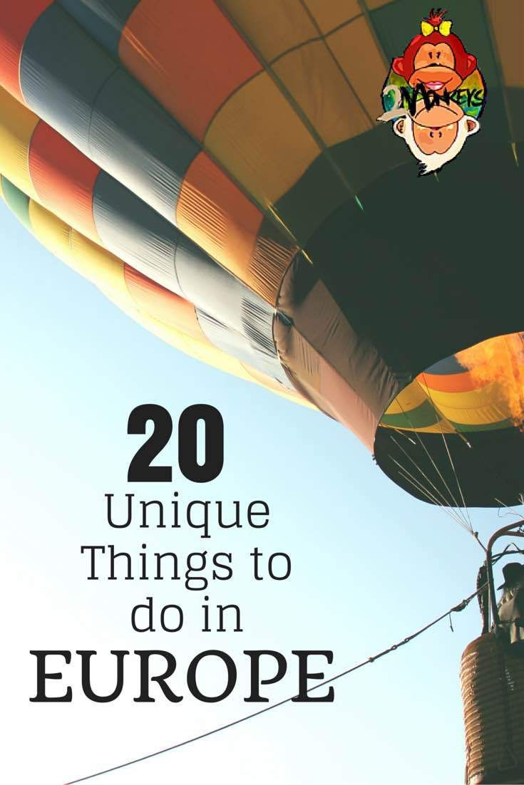 20 Unique Things to Do in Europe - Part 1. Are you tired of regular things to do in Europe? Check this list, including driving a Ferrari in Italy, Coasteering in Ireland or Base Flying in Berlin! #Europe #Adventures #TwoMonkeysTravelGroup