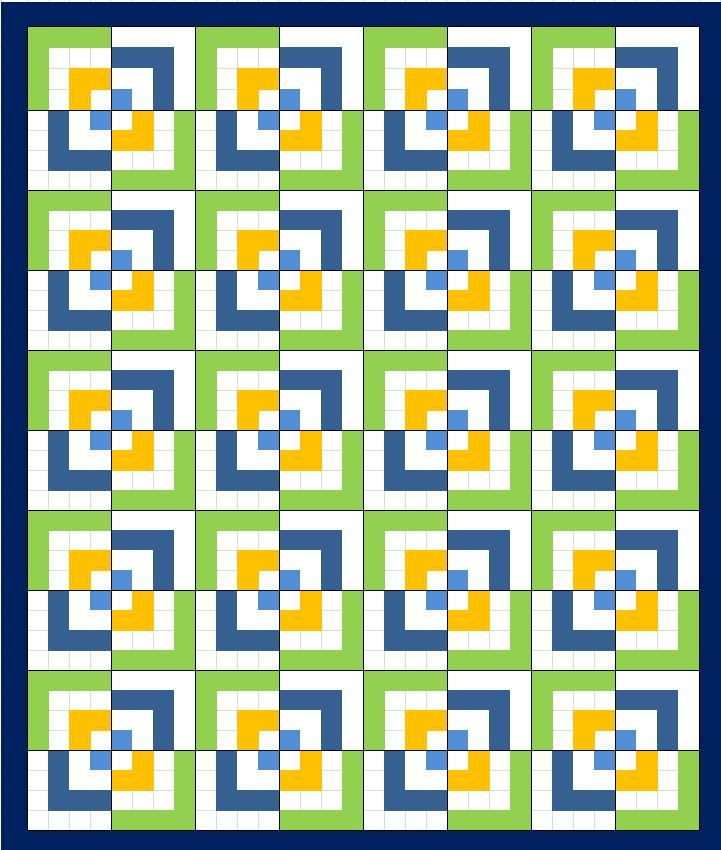 Half Log Cabin Quilt Pattern | FaveQuilts.com