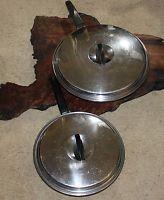 Vintage EKCO FLINT COOKWARE SKILLET SET Radiant Heat Core x 2 pan pans steel