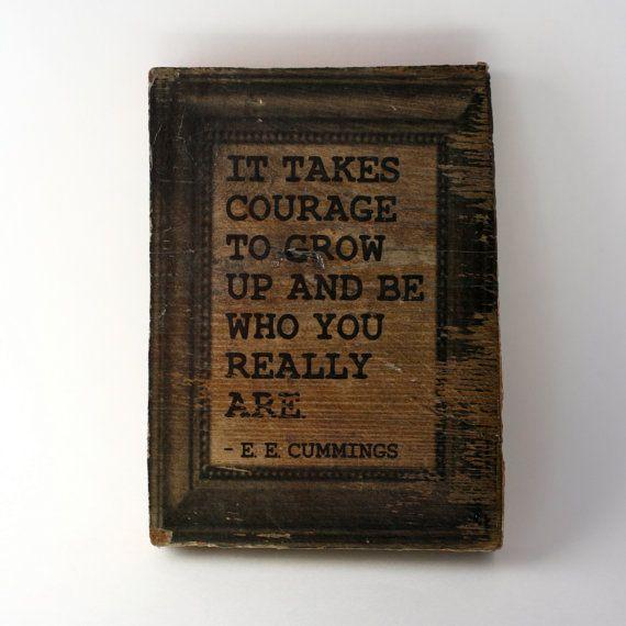 Modern Hepburn: Wall Hanging, Photo Blocks, Art Prints, Growing Up, Wood Blocks, Ee Cummings, Reading Books, Quotes Art, True Stories