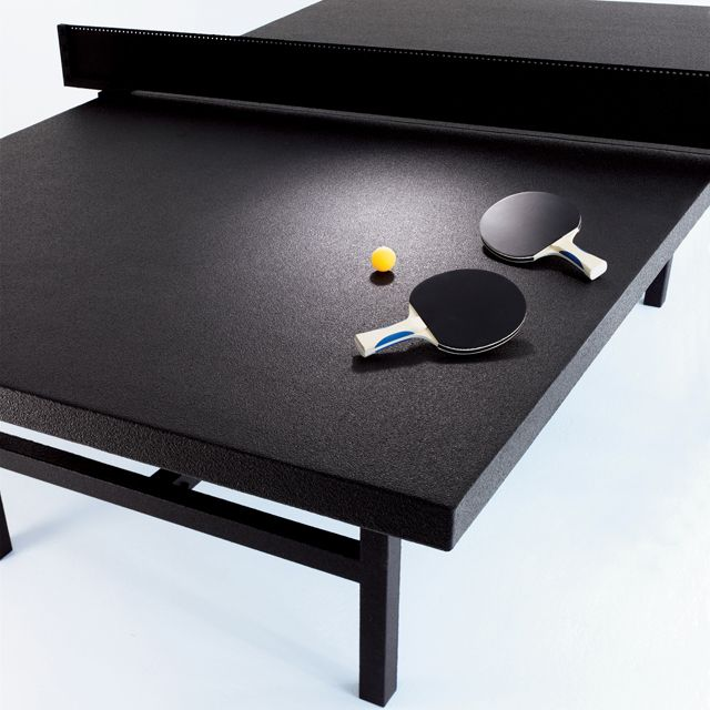 #Black Table Tennis #Table by Tom Burr. A neat thing to have in a bachelor pad!