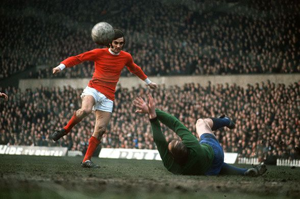 George Best scores against Sheffield Wednesday. 1968 proved the the high point…