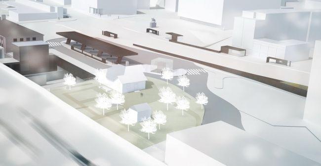 Транспортный узел в Лахти © JKMM Architects