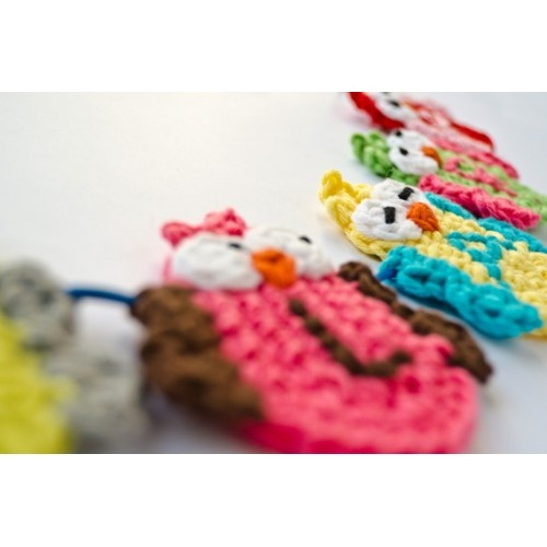 Garland of Colorful Owls Crochet Pattern