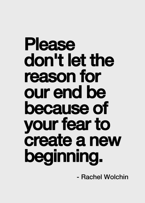 Must remind myself of this..It's OK for me to create something new...Damn fear always gets in the way!