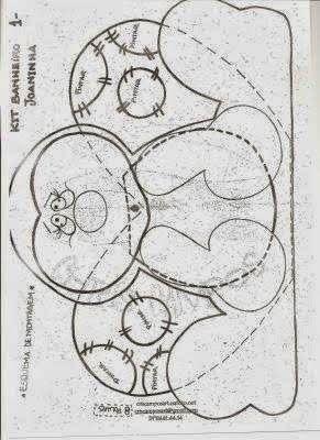 Moldes Para Artesanato em Tecido: Kit Banheiro joaninha com moldes