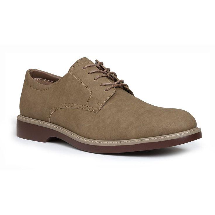 IZOD Palisade Men's Oxford Shoes, Size: medium (7.5), Beig/Green (Beig/Khaki)