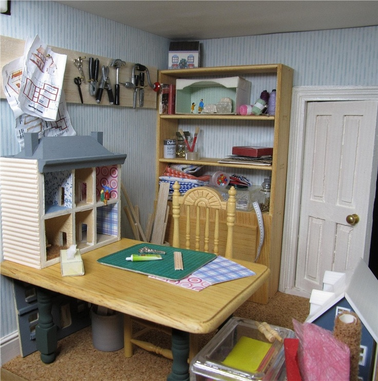 17 Best Images About Miniature Sewing & Craft Room On