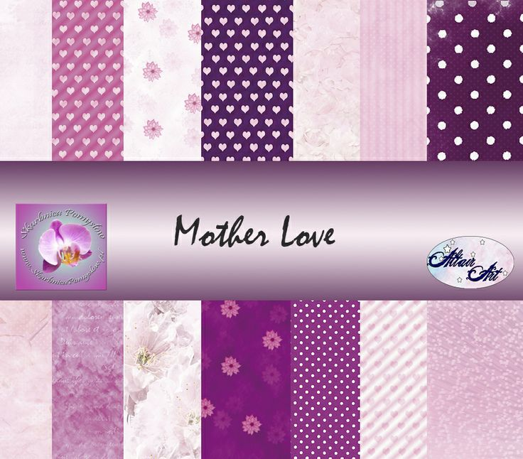 Mother Love scrapbooking papers collection.
