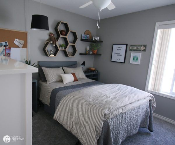 Bedroom Ideas For Young Men Decorating For Boy Bedrooms Grey Bedroom Ideas Todayscreativelif In 2020 Young Mans Bedroom Boys Bedroom Makeover Mens Bedroom