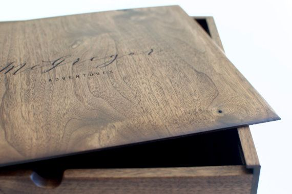 Large Keepsake Box - Wooden Box Our handcrafted XL walnut keepsake box, for holding onto and reminiscing about your most meaningful adventures. Looking for wording not shown in our standard designs? We really can engrave anything you would like on the boxes, simply let us know in the note