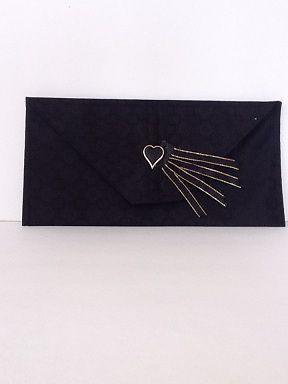 Sac à main napperon coeur noir No. 901