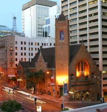 Central location on the corner of Creek and Ann Streets, Brisbane. St Andrew's Uniting Church. Our string trio performed here recently.  Brisbane wedding venue. Brisbane wedding string quartet.