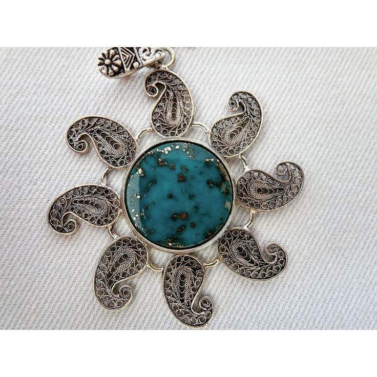 Turquoise Pendant - Shop with Persis Crafts (Persian Handicrafts Online Store) @ http://ift.tt/1JbKuWp - Free Worldwide Shipping.