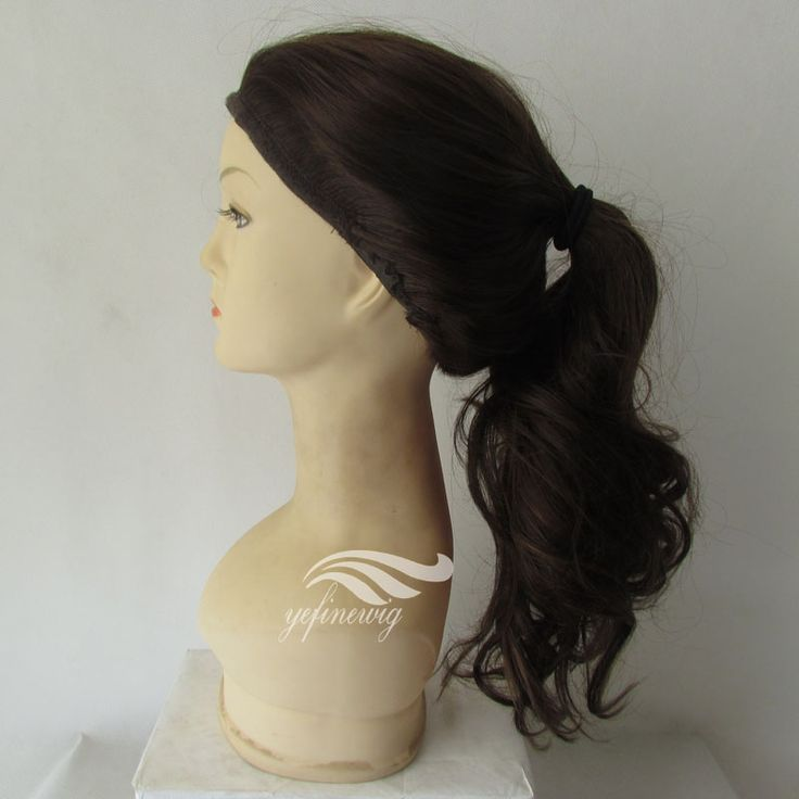Hot Selling Fast Delivery 130% Density Mongolian Human Hair Machine Made Jewish Ponytail Wig For Women