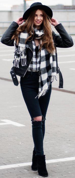 Carolina chic jacket - zara | shirt - primark | jeans - Shein | shoes - DEEZEE | hat - ASOS  | scarf - Stradivarius || Choker Bow ||  SKINNYLIAR