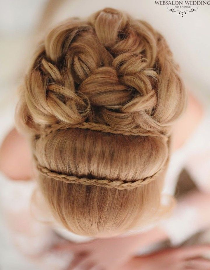 Glamorous Wedding Hairstyle with Curls - Braided accent gives illusion of headband