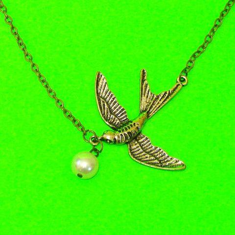 Soaring Swallow Necklace - Mookie Designs