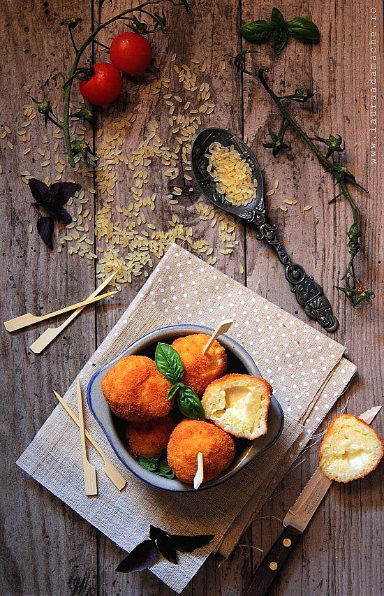 Crochete de orez umplute cu cascaval (crochete de orez umplute cu cascaval)