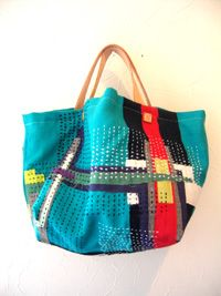 great slouchy bag-option for experiments that you don't want to do a whole quilts worth