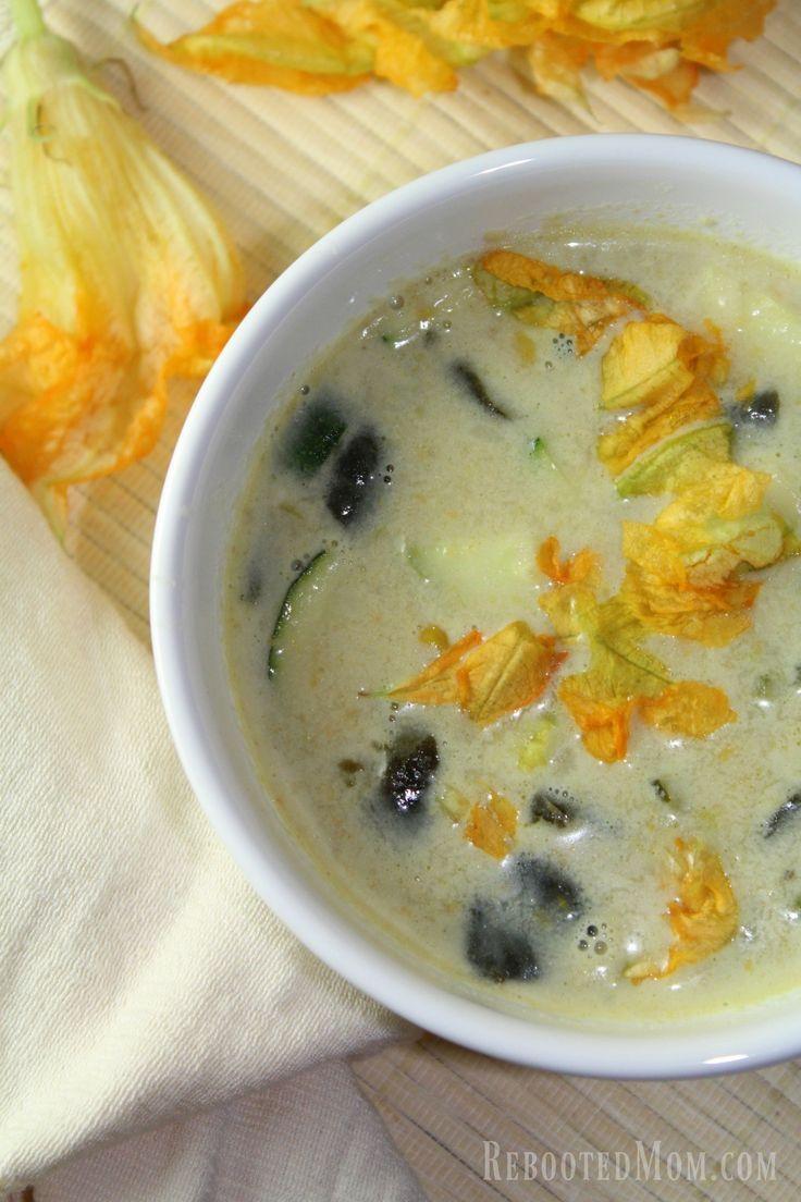 This rich and creamy Squash Blossom Soup uses Squash ...