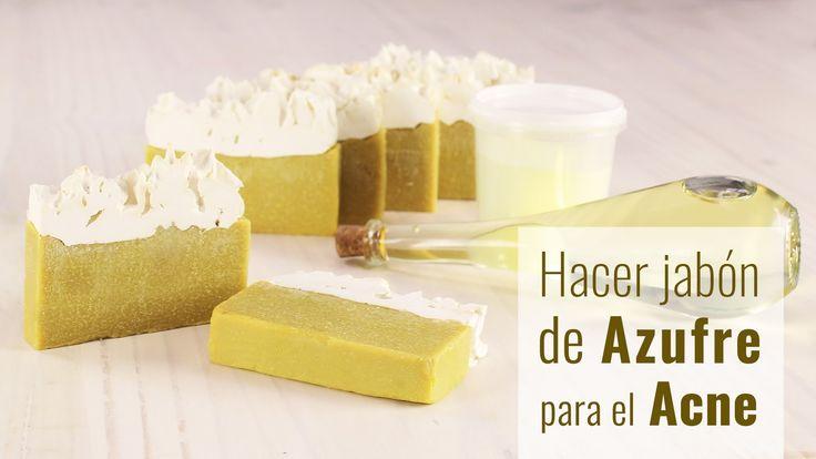 Hacer jabón de azufre para el acné