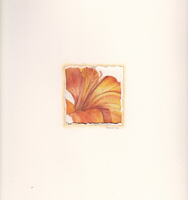 Lily, watercolor by Mireille Belajonas, 2012