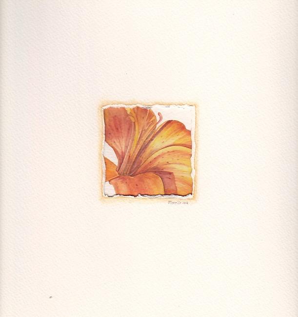 Lily, watercolor by Mireille Belajonas, 2012