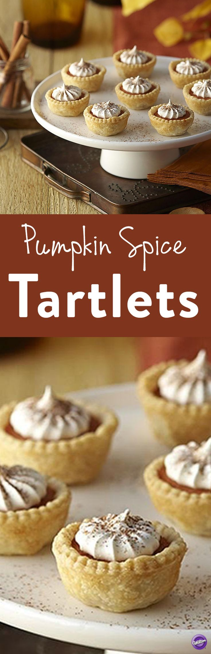 Pumpkin Spice Tartlets Recipe - Whip up an easy, bite-size dessert perfect for game day parties, book clubs or girls' get-togethers. Yummy pumpkin spice blended with rich cream makes an irresistible filling in a flaky tartlet crust. No one will be able to eat just one!