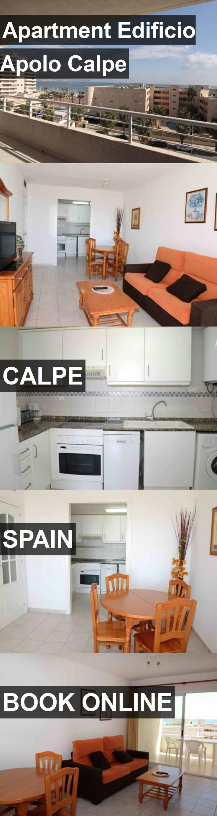 Hotel Apartment Edificio Apolo Calpe in Calpe, Spain. For more information, photos, reviews and best prices please follow the link. #Spain #Calpe #ApartmentEdificioApoloCalpe #hotel #travel #vacation