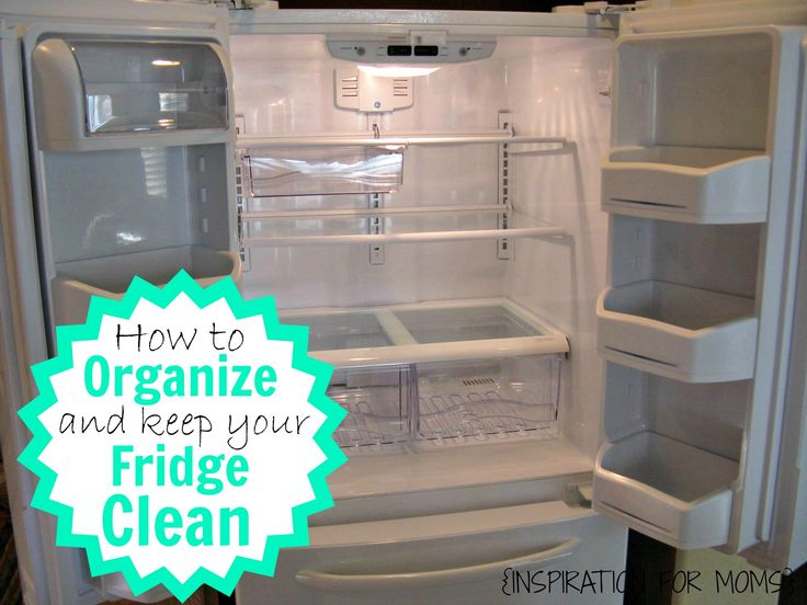 Learn how to keep your fridge clean and organized with very little scrubbing!