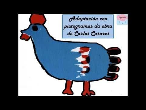 A galiña azul con pictogramas