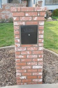 Mail Boss Mailbox installed in a brick column  #curbappeal
