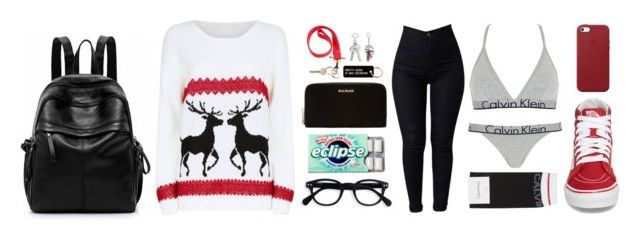 """X-mas"" by freedom2095 ❤ liked on Polyvore featuring Mela Loves London, Balmain, Various Projects, Givenchy, Yves Saint Laurent, Calvin Klein Underwear, Calvin Klein, Vans and Apple"