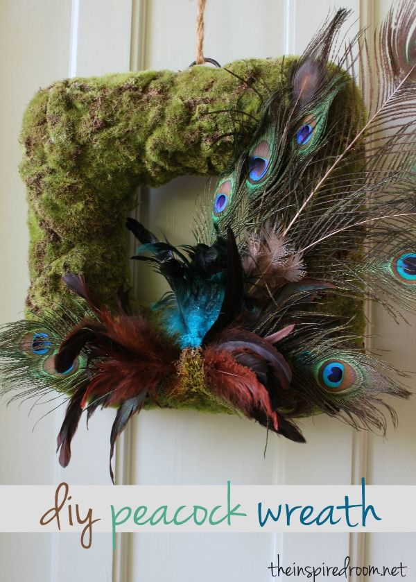 whimsical peacock wreath at The Inspired Room!