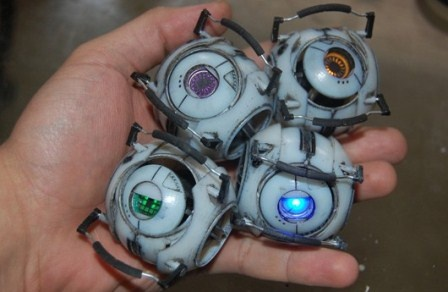 Objet 3D Printer used to Recreate Portal 2 Personality Spheres