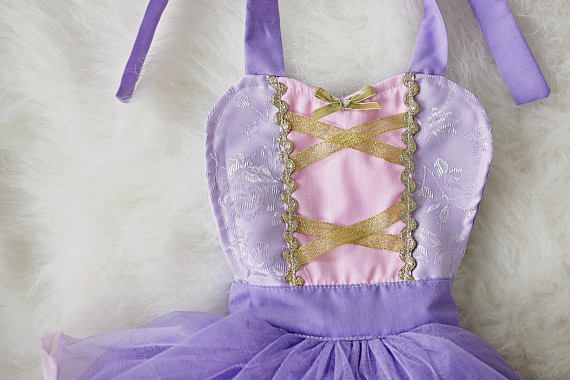 Rapunzel bebé traje traje de la princesa bebé prop foto