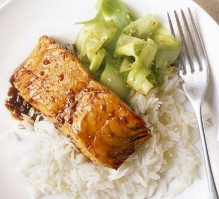 WW Dinner: Grilled Salmon with Teriyaki Sauce: Food Recipes, Health Food, Diet, Weights Watchers, Foodrecipes, Dinners, Teriyaki Sauces, Grilled Salmon Recipes, Foodstuffsavori Flavorsom