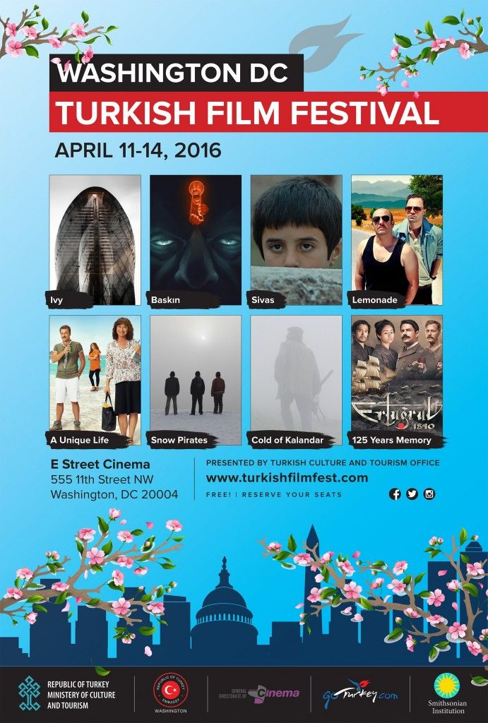 The Turkish Film Festival will be held in Landmark E Street Cinema, in Washington DC, on April 11-14 2016.