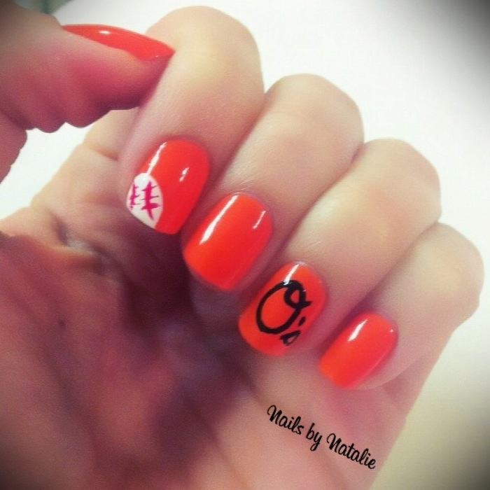 Orioles nail art