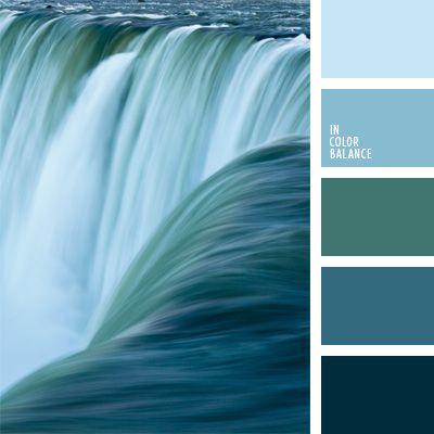 color agua fluvial, color aguamarina, color azul celeste, color del agua, color verde azulado, esquema de colores para interiores, matices del azul oscuro, paleta de colores monocromática, paleta del color azul oscuro monocromática, tonos celestes.