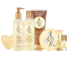 The Bodyshop, Vanilla Body Pack Range, $7.95, Shop 65, Lower Ground, QVB.
