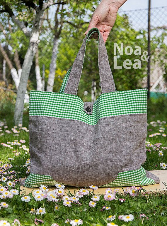 Upcycled Handbag Abercrombie & Fitch Big Tote Bag by NoaLea