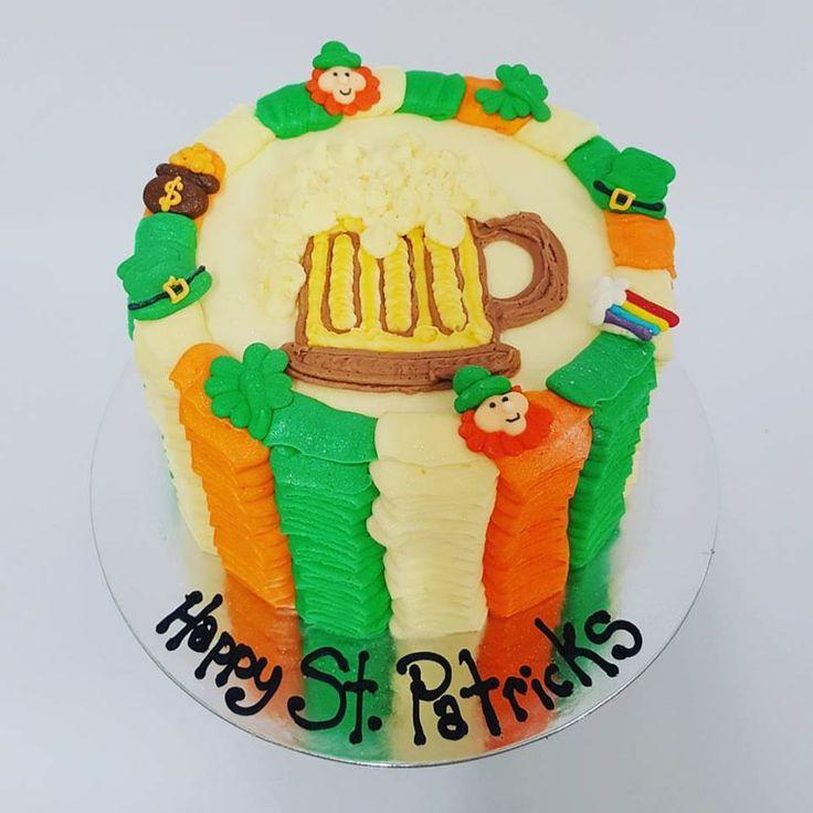 St Patricks themed ruffle cake