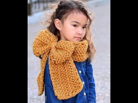 Cuellos y bufandas de crochet para niños y niñas tejidas a mano con ganc...