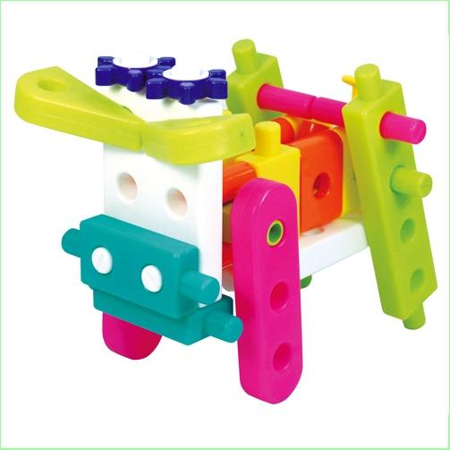 GIGO Toys - Kids Construction Set - Junior Engineer Mini Zoo - Cow
