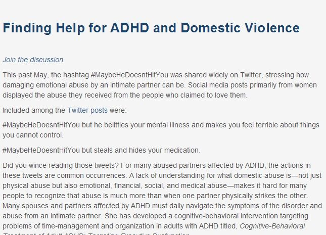 Help for adhd marriage tips