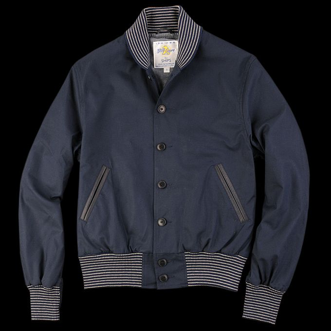 UNIONMADE - Golden Bear - Golden Bear Cotton Shawl Baseball Jacket in Navy