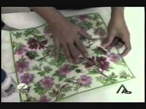 Школа дизайна №25 Декупаж на стеклянной банке - YouTube